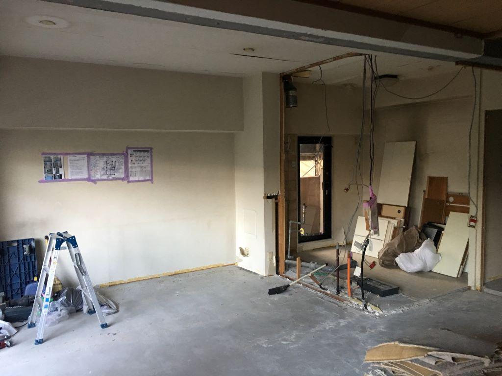 吹田市マンションフルリフォーム 解体工事