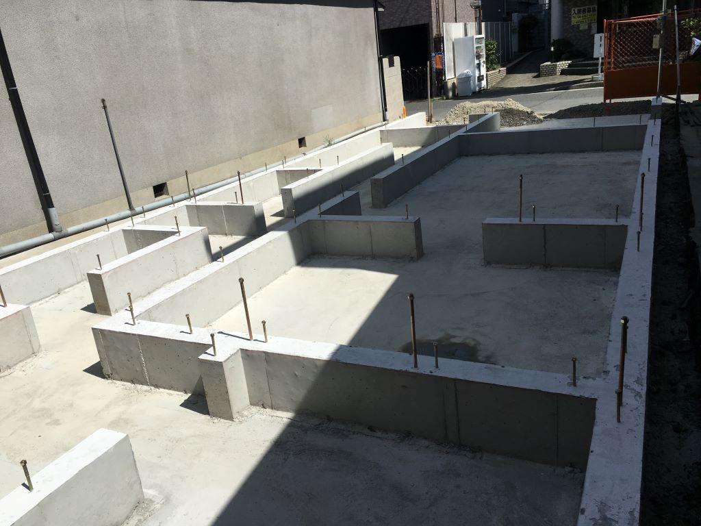 此花区注文住宅 基礎コンクリート完成